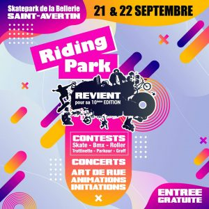 Samedi 21 septembre 2019 : Riding Park à Saint-Avertin
