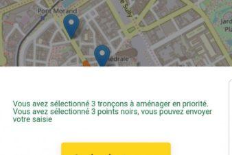 Nouveauté du Baromètre des villes cyclables 2019 : la possibilité de choisir 3 tronçons à aménager en priorité. @FUB
