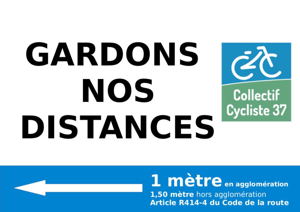 """Message proposé aux cyclistes tourangeaux dans le cadre de l'opération """"Les cyclistes ont la frite !"""""""
