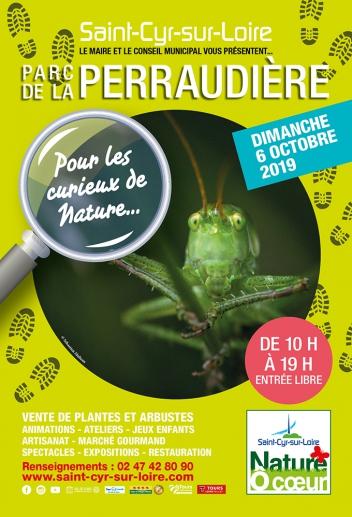 Affiche de l'édition 2019 de Nature Ô Coeur, l'évènement nature de l'automne à Saint-Cyr-sur-Loire. @Ville de Saint-Cyr-sur-Loire