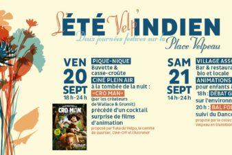 L'été Velp'Indien, vendredi 20 et samedi 21 septembre 2019, deux journées festives sur la place Velpeau, à Tours. @collectif Velpeau en transition