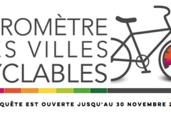 Logo officiel du Baromètre des villes cyclables 2019. @FUB