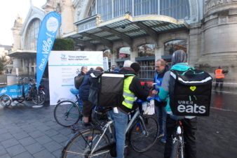 "Animations ""Cyclistes brillez !"", gare de Tours, novembre 2018. @CC37."