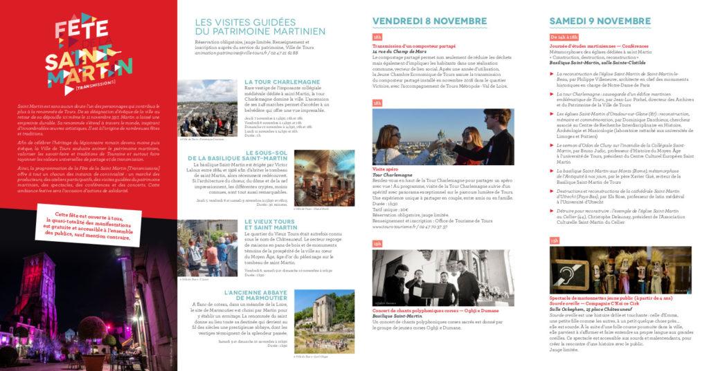 Programme de la Fête de la Saint-Martin, 7-11 novembre 2019, p. 1. @Ville de Tours, service Patrimoine
