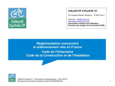 Réglementation concernant le stationnement vélo en France