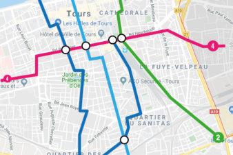 Tours, un enjeu majeur pour le futur Réseau Express Vélos de Tours Métropole Val de Loire. @Collectif Cycliste 37