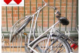 Roue pliée stationnement pince-roues