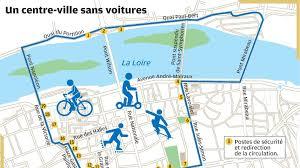 """Périmètre des """"Visuel des """"dimanches sans voitures"""" à Tours. @Nouvelle République"""