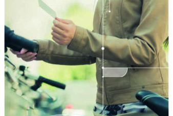Couverture du flyer Fil Bleu informant sur les abris vélos sécurisés. @Fil Bleu