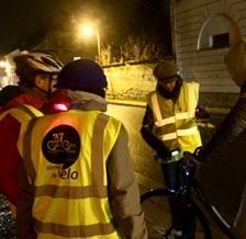 Opération «Cyclistes, brillez!» à Loches le 6 décembre 2019