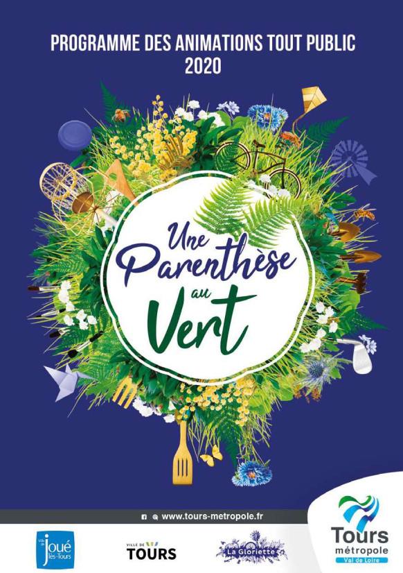 Couverture du programme 2020 des animations tout public de la Gloriette. @Tours Métropole Val de Loire