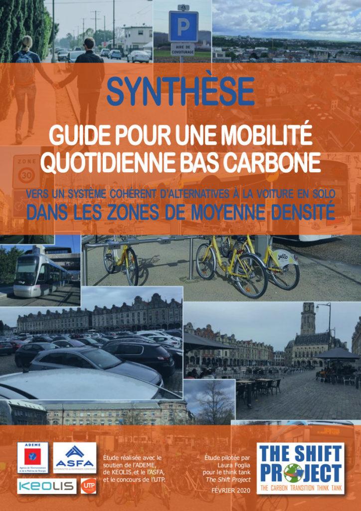 « Guide pour une mobilité quotidienne bas carbone » : le rapport du Shift Project pour les collectivités