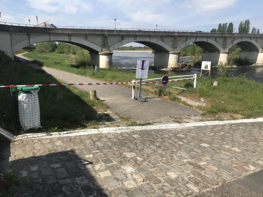 Fermeture d'une voie verte en Indre-et-Loire. Source : Préfecture d'Indre-et-Loire.