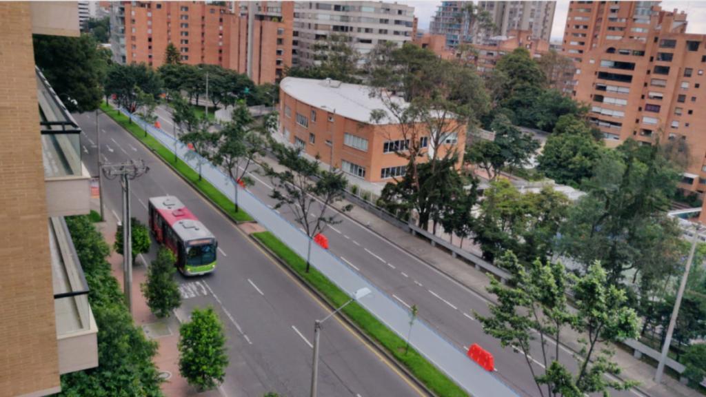 Bogota (Colombie), route n° 7.