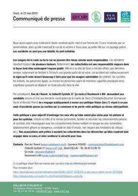 Accidents mortels de piétons et de cyclistes : pour une politique Vision Zéro au niveau métropolitain