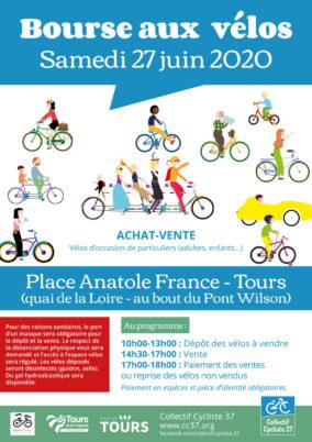 Bourse aux vélos : samedi 27 juin 2020 à Tours