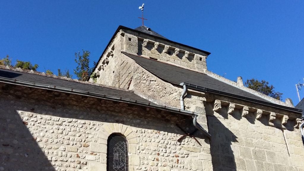 La Chapelle Saint Georges à Rochecorbon. Source de l'illustration : Touraine, terre d'histoire.
