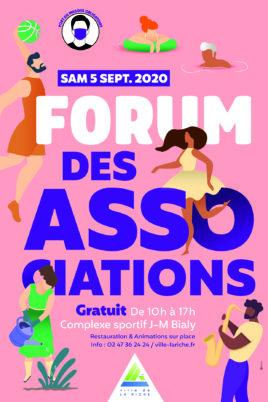 Samedi 5 septembre 2020 : forum des associations de La Riche