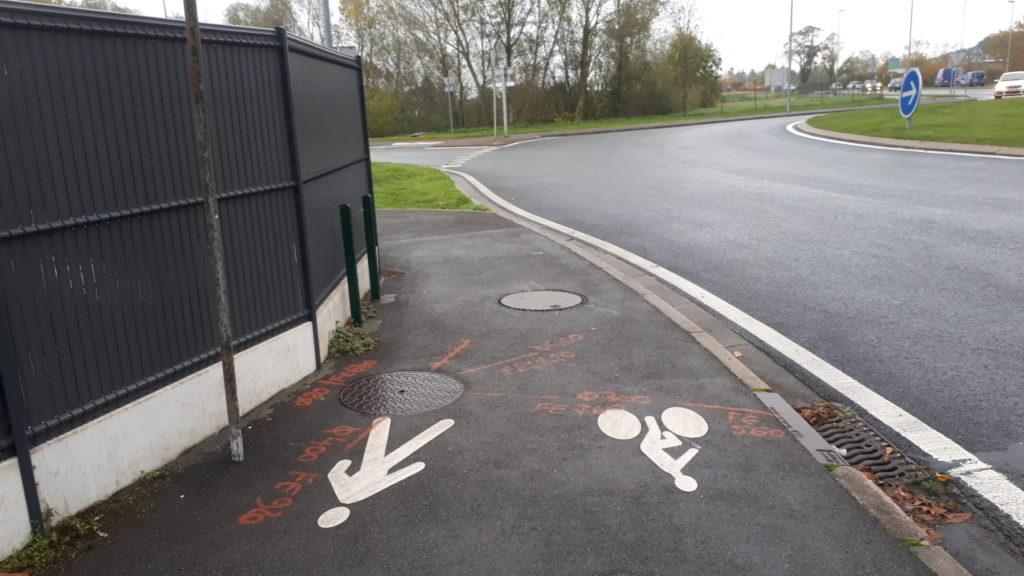 Un joli trottoir cyclable tout neuf créé en 2019 à Joué-les-Tours. @CC37