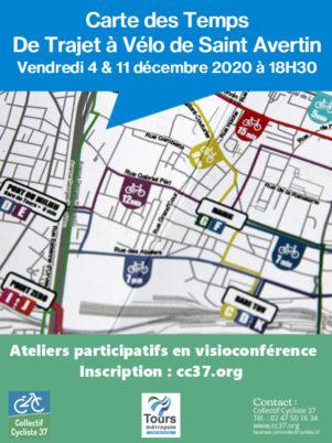 Saint-Avertin : une nouvelle carte des temps de trajet à vélo, ça vous dit ?