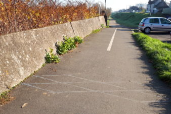 Compteur vélo sur l'itinéraire Loire à vélo à Saint-Pierre-des-Corps.