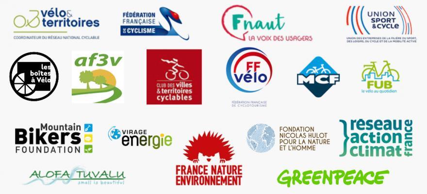 """Logos des signataires de la tribune """"Plein d'idées pour mettre la France en selle à l'occasion des futurs déconfinements""""."""