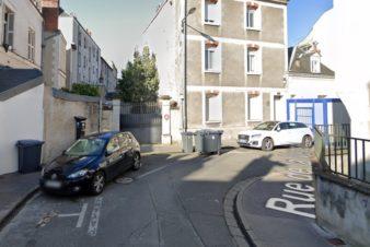 La visibilité : rue de la Vendée, à Tours, en double-sens cyclable.