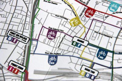 Carte des temps de trajet à vélo de Saint Avertin : top chrono !