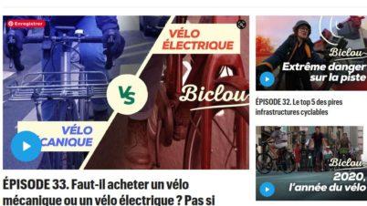 Biclou : magazine vidéo hebdomadaire dédié au vélo urbain