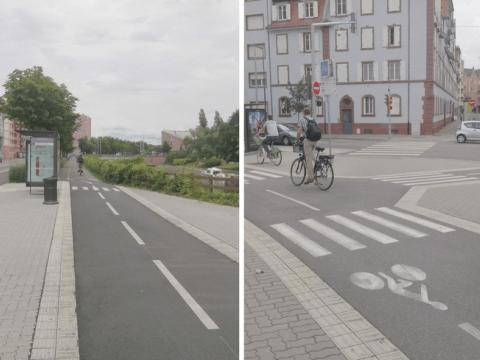 Maintenir la continuité de la piste cyclable. @CEREMA, 2021.