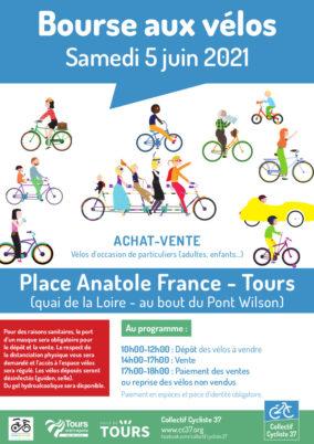 Bourse aux vélos à Tours : samedi 5 juin 2021