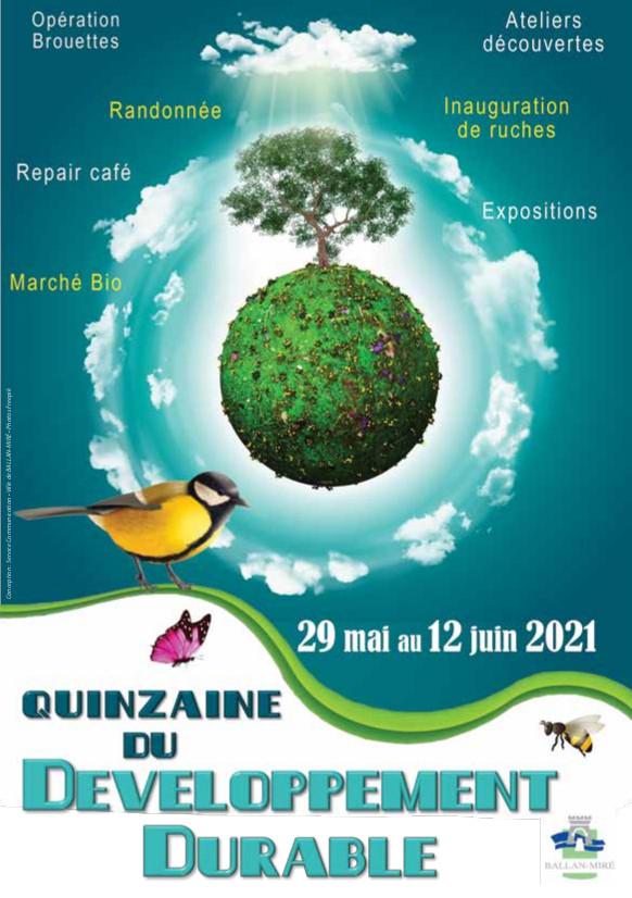 Visuel de la Quinzaine du développement durable (édition 2021) de Ballan-Miré. @Ballan-Miré