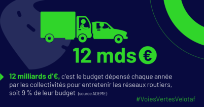 Chiffre clé : 12 milliards d'€, c'est le budget dépensé chaque année par les collectivités pour entretenir les réseaux routiers
