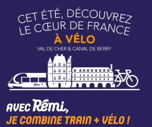 Combinez train+vélo et découvrez «le cœur de France à vélo»