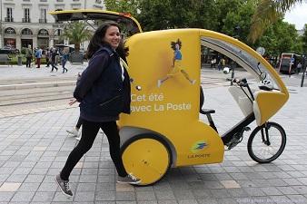 Animation avec vélo-cargo cet été avec La Poste