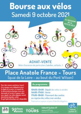 Bourse aux vélos à Tours : samedi 9 octobre 2021 à l'occasion de la Fête du vélo