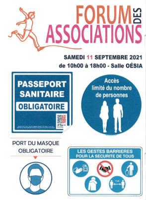 Samedi 11 septembre 2021 : Forum des associations à Notre-Dame d'Oé