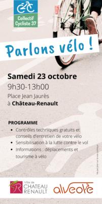 Samedi 23 octobre 2021 : Parlons vélo à Château-Renault !