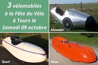 Venez découvrir les vélomobiles à la Fête du Vélo à Tours !